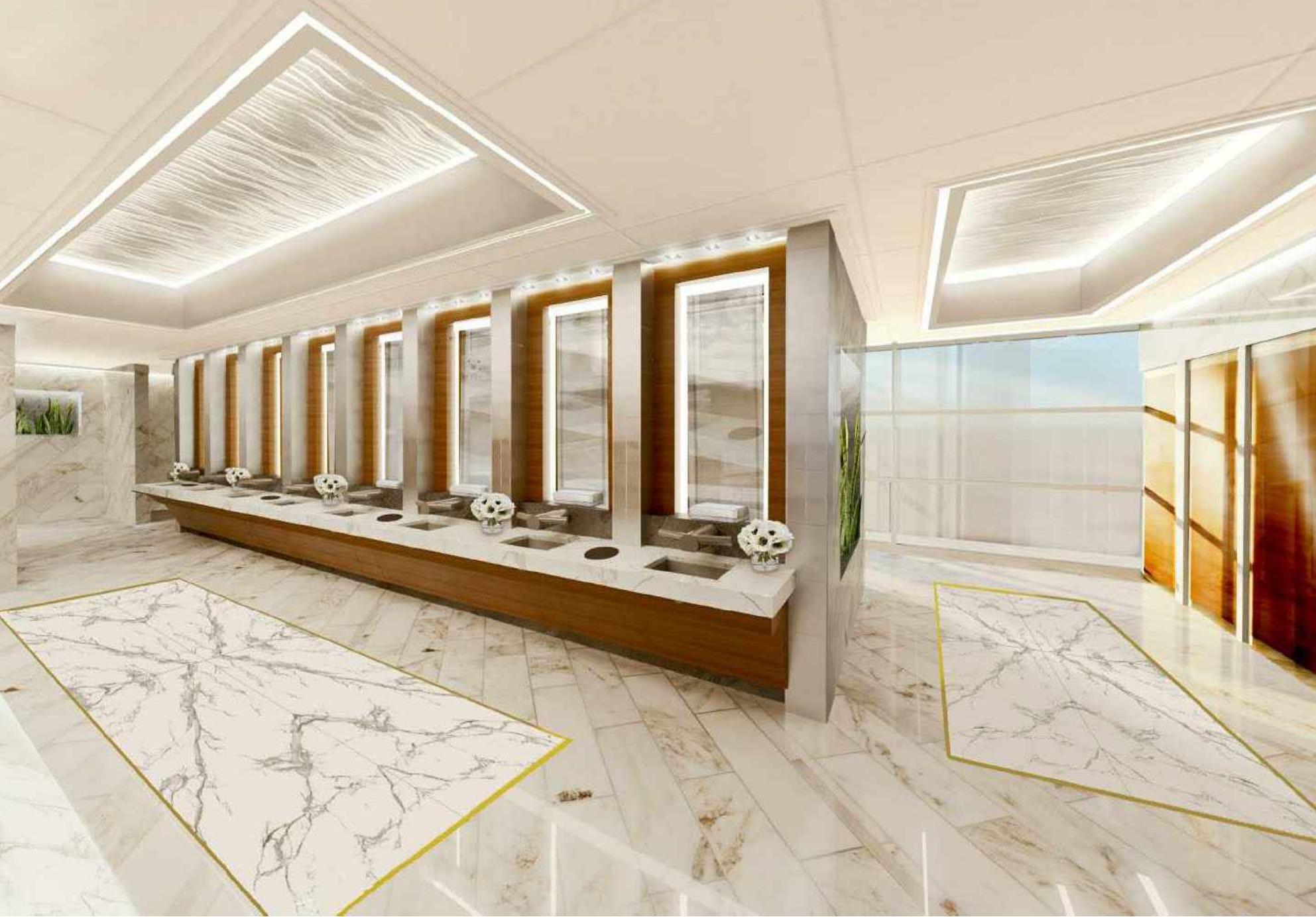 T. F. Green Airport Restroom modernization begins